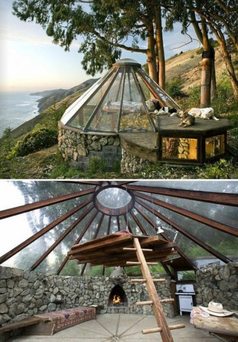 glass yurt big sur 2