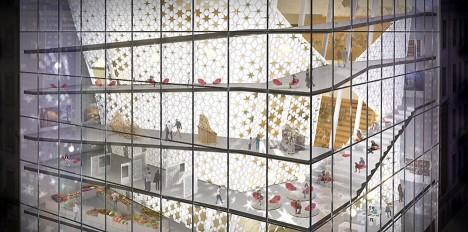 islamic center facade glass