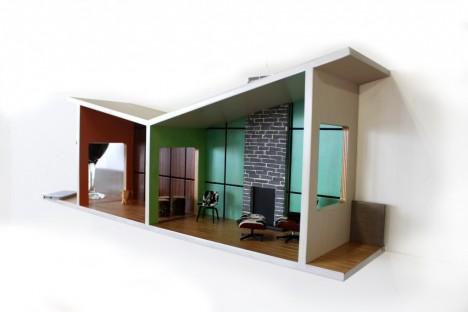 mini modernist floating house shelves