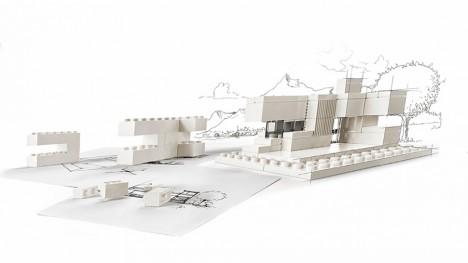 mini modernist lego arch studio