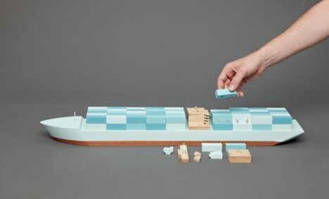 mini modernist wooden ship 3