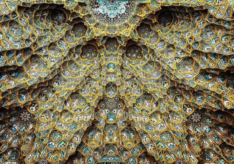 mosque ceilings iran