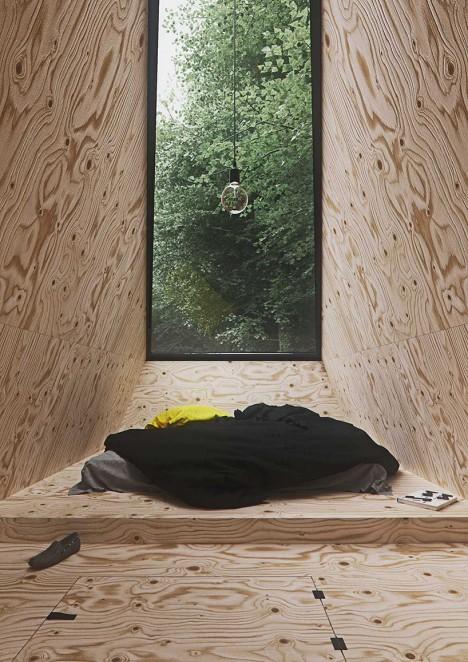 plywood modern cabin 2