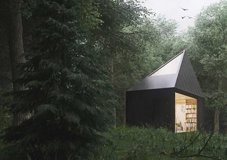plywood modern cabin 4