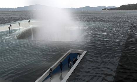 Marine Miracle: Walk on Water at This Sunken Seaside Pavilion
