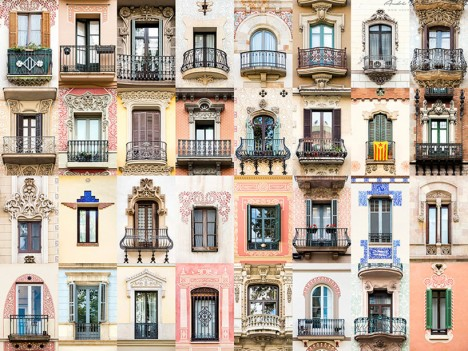 windows of barcelona spain