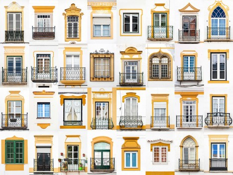 windows of evora portugal