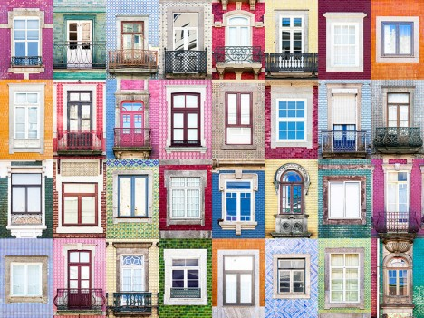 windows of porto portugal