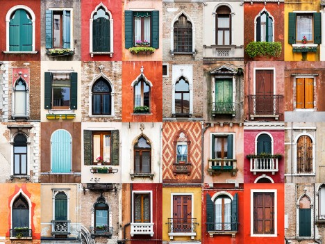 windows of venice italy