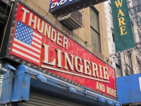 lingerie shops: