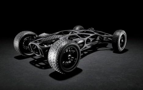 bird inspired skeleton racecar