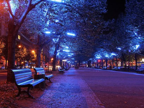 blue light special colored streetlamps precede decline in