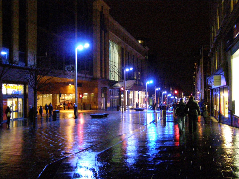 blue lights glasgow downtown