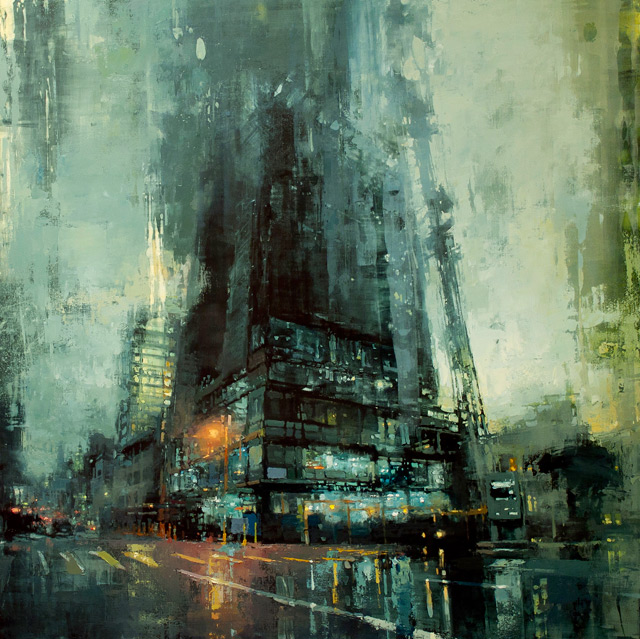 Gritty Cities: Oil Painter Captures Cityscapes at Dusk & Dawn