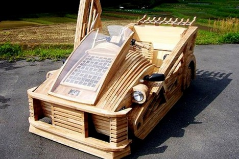 japanese wooden car 1