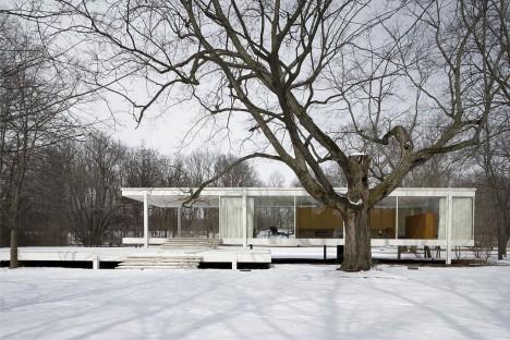 midcentury modern farnsworth house 2