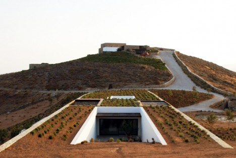 Aloni House by Deca Architecture, Cycladic Islands, Greece modern hobbit  aloni 1