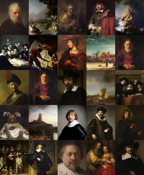next rembrandt studied painting