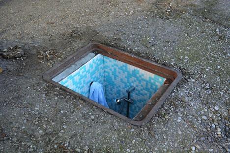 underground bathroom shower