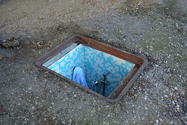 underground bathroom shower
