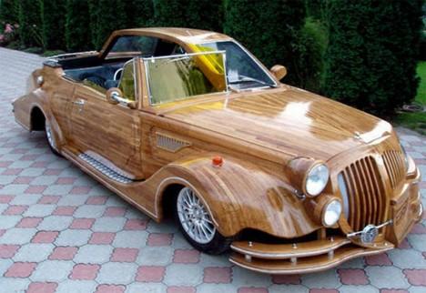 wood transit half and half car