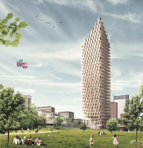 wooden architecture tower