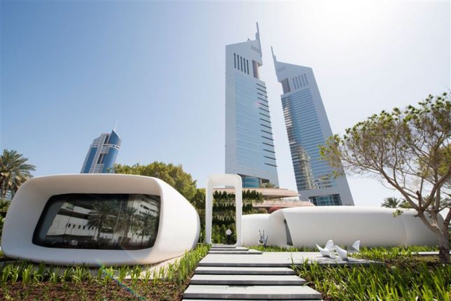 World's First 3D-Printed Office Building Unveiled in Dubai