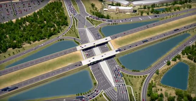diverging diamond interchange design