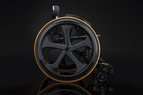 future wheelchair carbon black