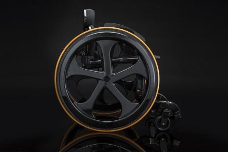 future wheelchair carbon black