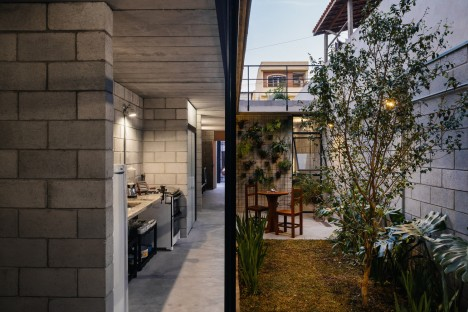 Modest modernism concrete block house in brazil wins award urbanist - The narrow house of sao paolo ...