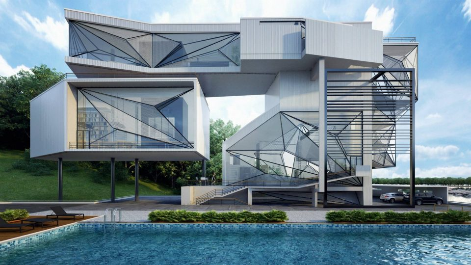 Fresh U0026 Modern Showcase: 15 Strikingly Beautiful Geometric Home Designs