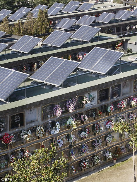 multipurpose cemeteries solar power spain