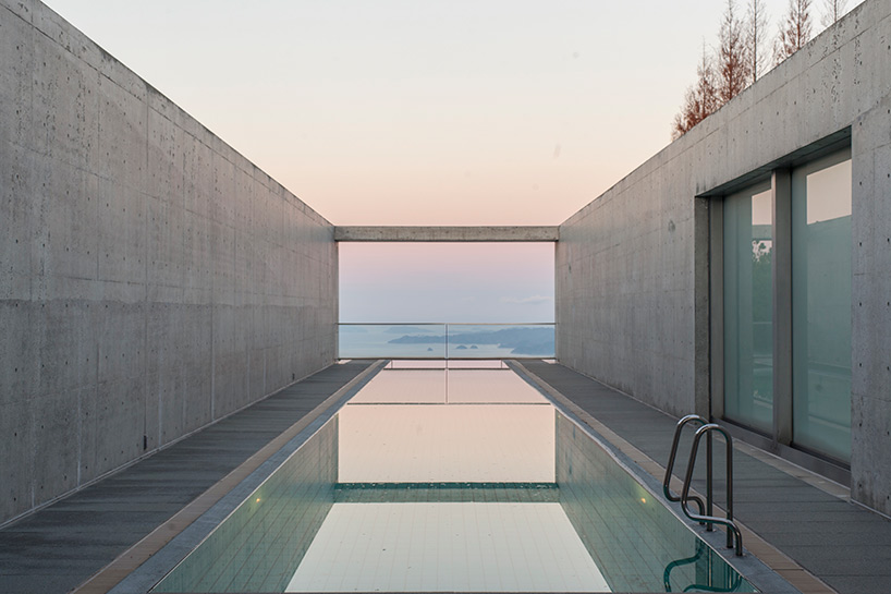 Minimal luxury monumental concrete hotel by tadao ando for Minimalist hotel