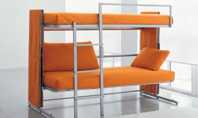 Small space shape shifters 13 transforming furniture designs urbanist - Save spacing bunk bed ...
