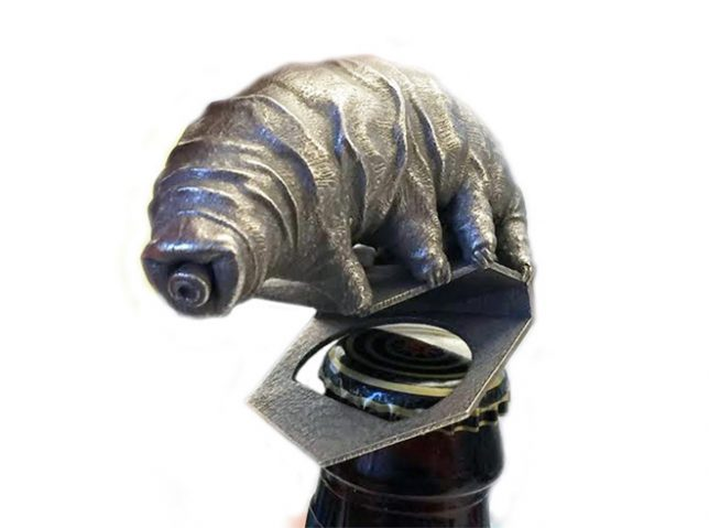 3d printed tardigrade bottle opener