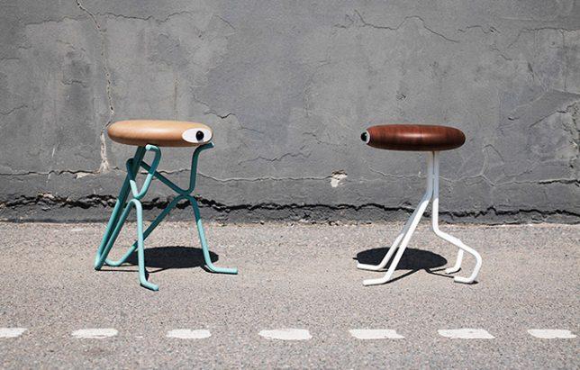 anthropomorphic companion stools