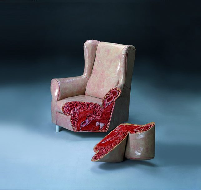 anthropomorphic fleshy chair 3