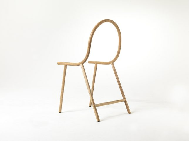 bent chair back view