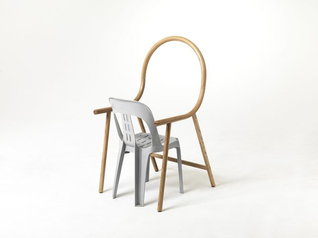 bent chair backward bucket