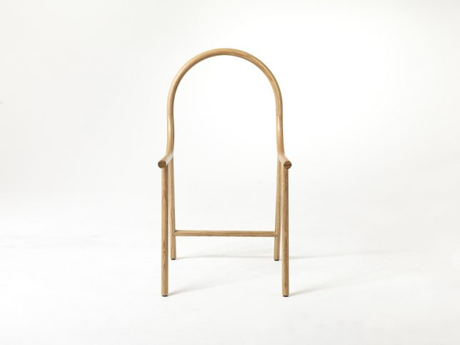 bent chair front view