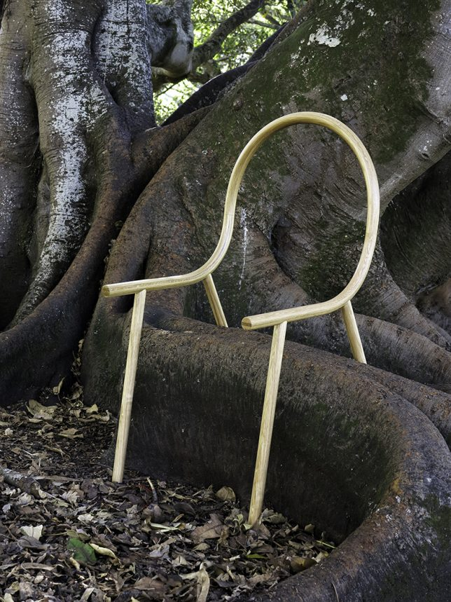 bent chair in nature