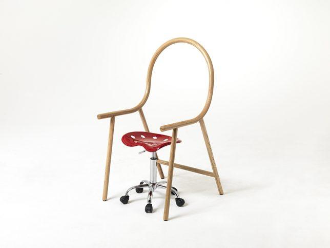 bent chair stool casters
