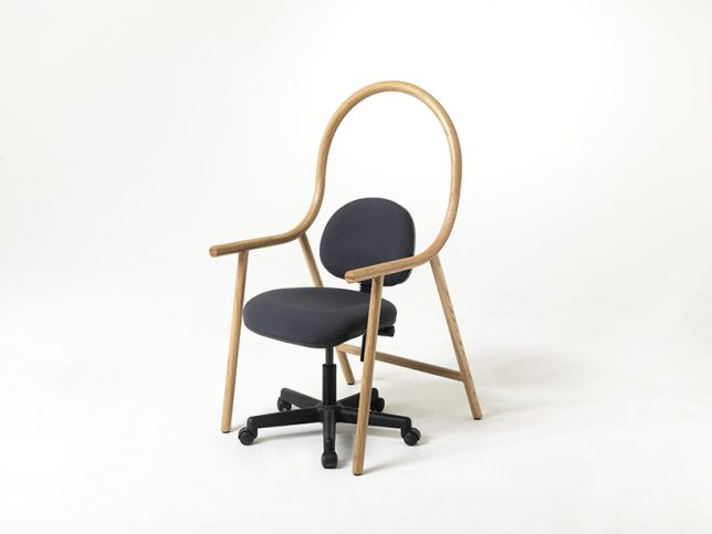 bent chair with office