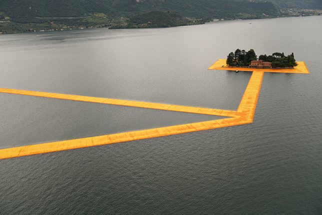 floating lake art