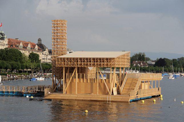 floating pavilion reflection 3