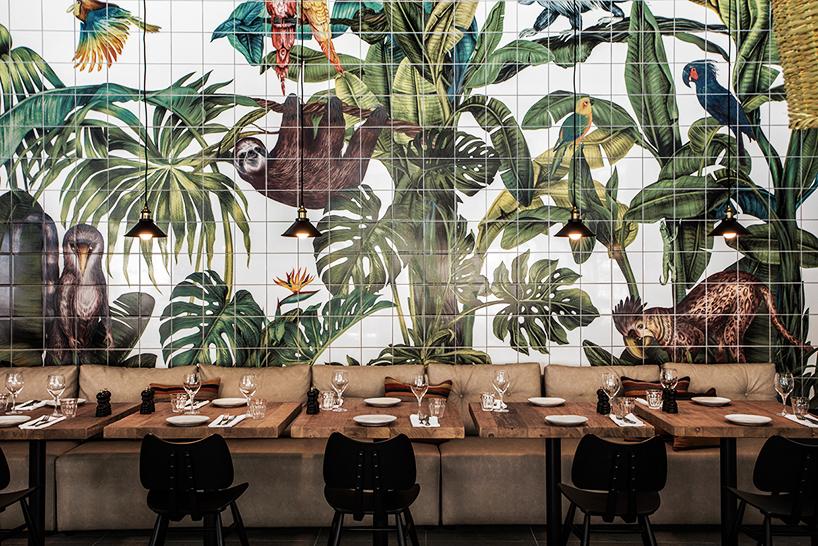 modern tiles jungle
