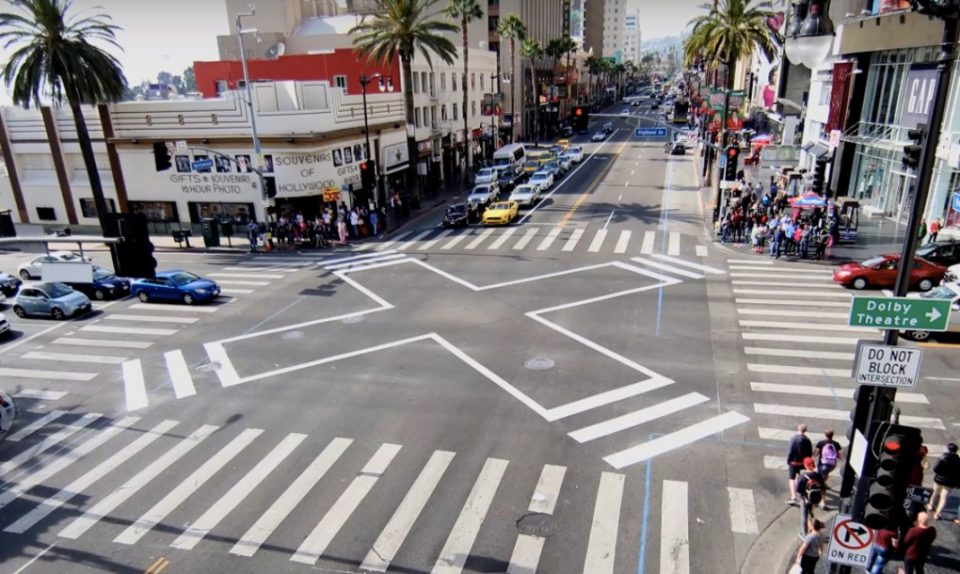 scramble diagnoal crosswalks
