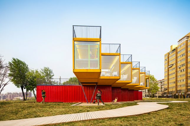 shipping container building 2