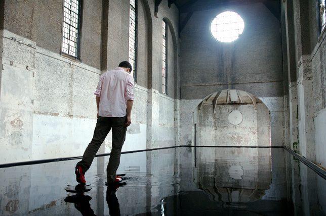 water art flooded church